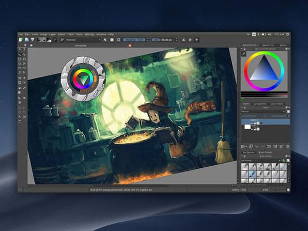 krita macos mac windows gratuit 1 - Krita Mac - Alternative Pro à Photoshop et Illustrator (gratuit)
