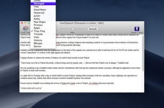 Text2Speech Mac