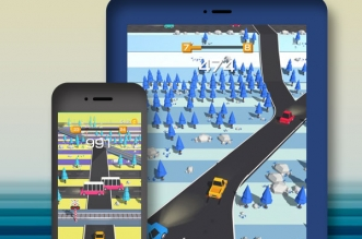 traffic run jeu iphone ipad 1 331x219 - Traffic Run iPhone iPad - Addictif Jeu de Voiture en 3D (gratuit)