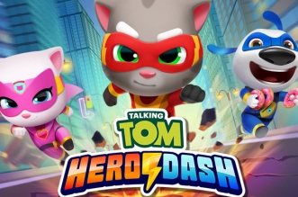 jeu video talking tom hero dash iphone ipad ipod 1 331x219 - Hero Dash iPhone iPad - Tom le Chat est plus Fort que Sonic (gratuit)