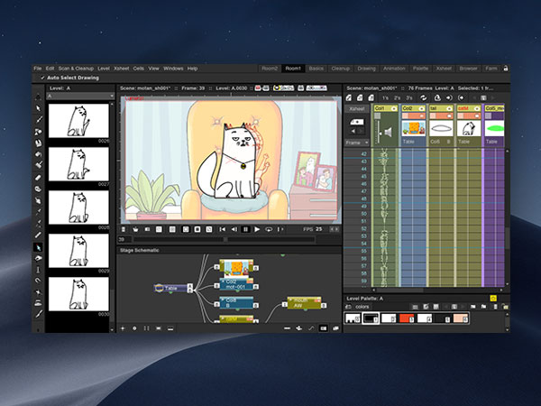 opentoonz macos mac 1 - OpenToonz Mac - Logiciel d'Animation 2D du Studio Ghibli (gratuit)