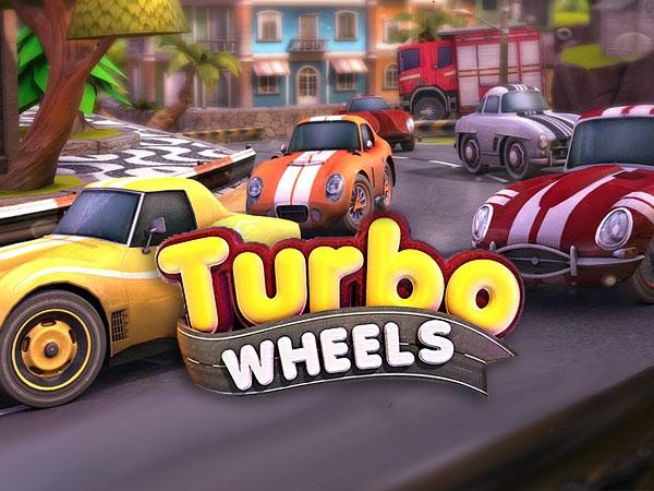 turbo wheels jeu iphone ipad 1 - Jeu Turbo Wheels iPhone iPad - Delirante Course Automobile 3D (gratuit)