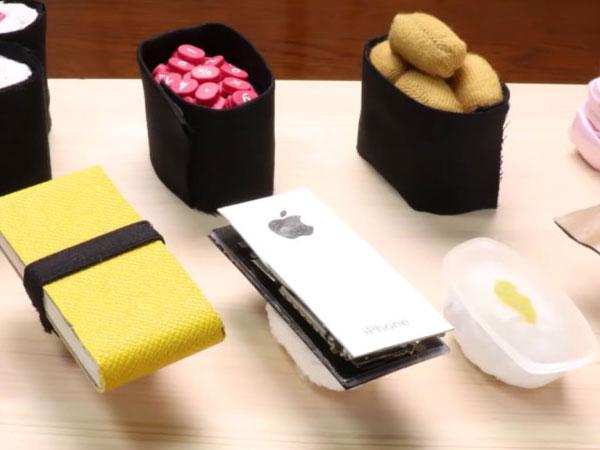 video stop motion suisine sushi insolite 1 - Insolite, il Cuisine son iPhone pour en Faire un Sushi (video)