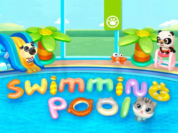 dr panda swimming pool jeu iphone ipad 1 - Jeu Dr. Panda Swimming Pool iPhone iPad - Des Animaux à la Piscine (gratuit)