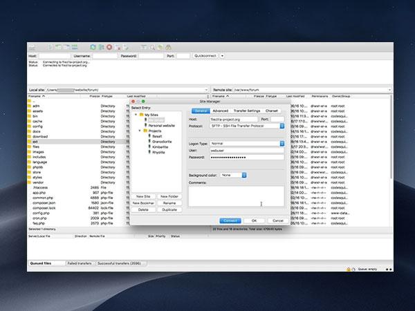 FileZilla Mac - Meilleur Client FTP, FTPS et SFTP (gratuit