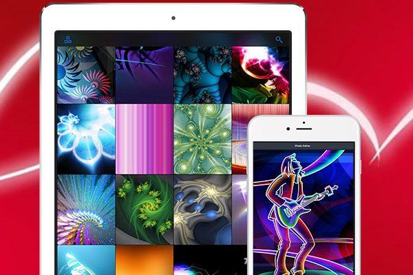 glow wallpapers pro iphone ipad 01 600x400 - Glow Wallpapers Pro iPhone iPad - Fonds d'Ecran Fluorescents (gratuit)