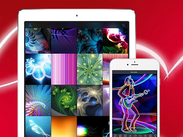 Glow Wallpapers Iphone Ipad Fonds Decran Fluorescents