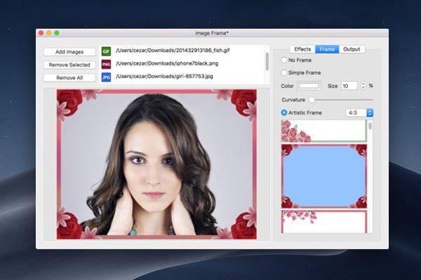 image frame beautiful photo macos mac gratuit 01 600x400 - Image Frame Mac - Effets et Encadrements pour Photos (gratuit)