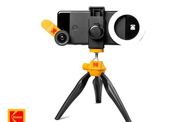 kodak smartphone photography kit iphone accessoires 01 600x400 - Kit Photo Kodak de 5 Accessoires pour iPhone et Smartphones