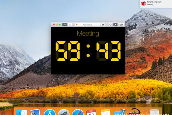 red hot timer macos mac maxiapple 01 600x400 - Red Hot Timer Mac - Minuterie Flottante Personnalisable (gratuit)
