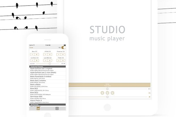 studio music player dx iphone ipad 01 600x400 - Studio Music Player DX iPhone - Lecteur Audio + Égaliseur Pro (gratuit)