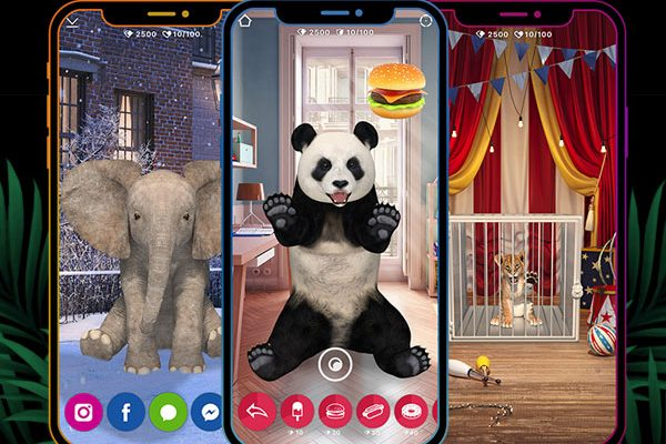 animar jeu iphone ipad 01 600x400 - Animar iPhone iPad - Un Vrai Zoo en Réalité Augmentée (gratuit)