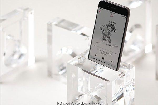 elago acoustic amplification stand dock amplificateur passif iphone 05 600x400 - Amplificateur Passif Transparent pour iPhone chez Elago