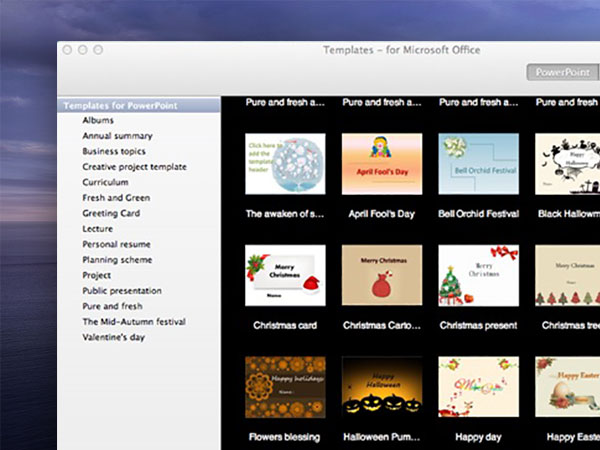templates for ms office macos mac 02 - 360 Modèles Mac pour MS Word, PowerPoint, Excel (gratuit)
