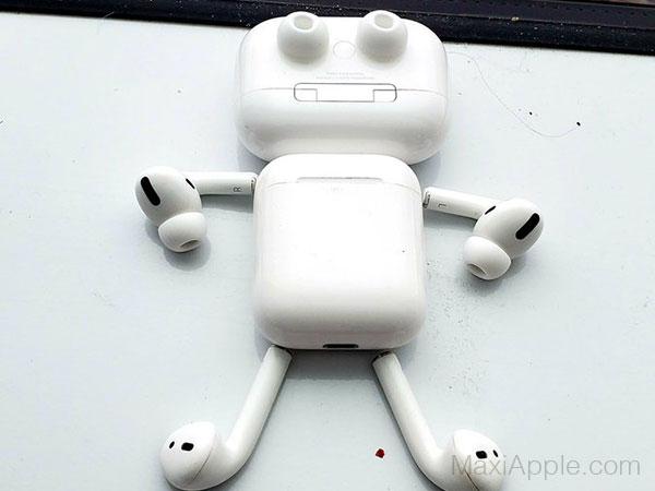 airpods pro detournement robot humour 01 - Ils Transforment les AirPods Pro en Robots Rigolos (images)