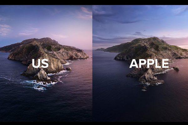 fond ecran catalina gratuit photo original 1 600x400 - Ils Recréent en Vrai le Fond d'Ecran macOS Catalina (video)