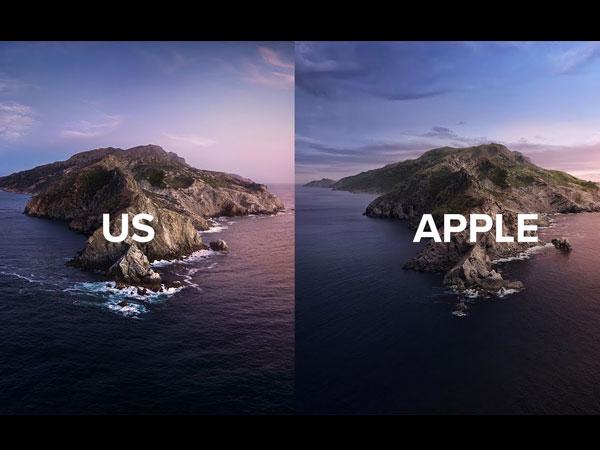 fond ecran catalina gratuit photo original 1 - Ils Recréent en Vrai le Fond d'Ecran macOS Catalina (video)