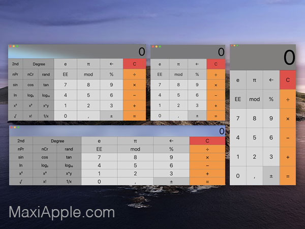 resizable calculator pro macos mac 1 - Resizable Calculator Pro Mac - Calculatrice Scientifique Modulable