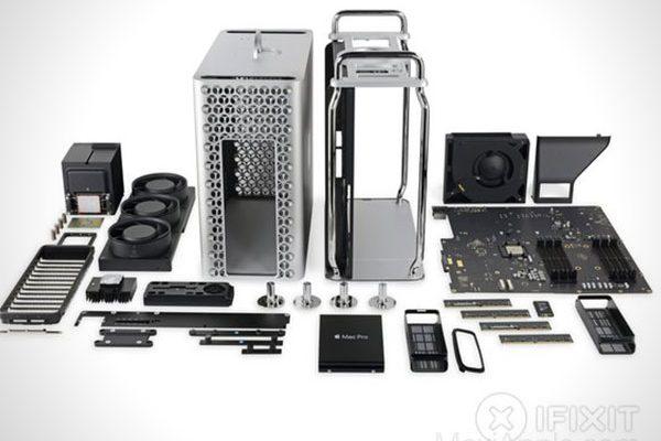 mac pro 2019 demontage reparation video 02 600x400 - Pour iFixit le Mac Pro 2019 est Facile à Démonter (video)