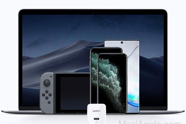 mini chargeur rapide aukey minima 27w usb c iphone macbook 01 600x400 - AUKEY Minima, Mini Chargeur USB-C iPhone 3x Plus Rapide