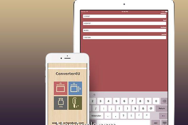 converter4u iphone ipad 01 600x400 - Converter4U iPhone iPad - Convertisseur Universel d'Unités (gratuit)
