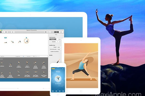 pocket yoga teacher ios iphone ipad 1 600x400 - Pocket Yoga Teacher Mac iPhone - 300 Exercices de Yoga (gratuit)