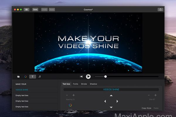 intromate intro maker macos mac gratuit 4 600x400 - IntroMate Intro Maker Mac - Créez des Intros / Outros Video (gratuit)
