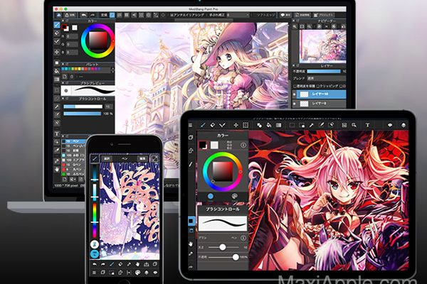 medibang paint macos mac ios iphone ipad gratuit 01 600x400 - MediBang Paint Mac iPhone iPad - App de Dessin et Peinture (gratuit)