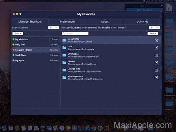 my favorites macos mac 02 - My Favorites Mac - Mettez en Favoris Dossiers, Fichiers, URL, etc