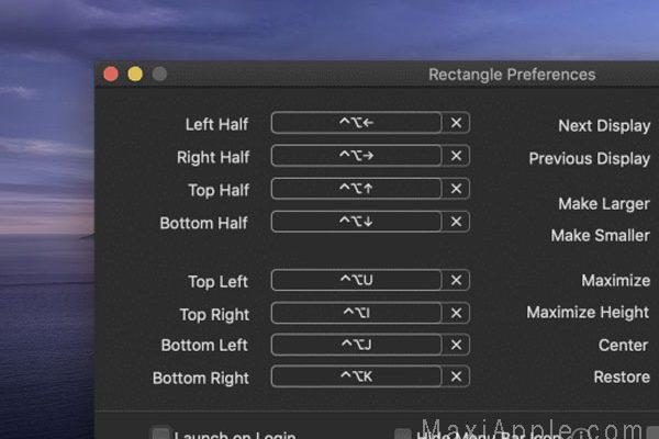rectangle macos mac gratuit 02 600x400 - Rectangle Mac - Gestionnaire de Fenêtres Polyvalent (gratuit)