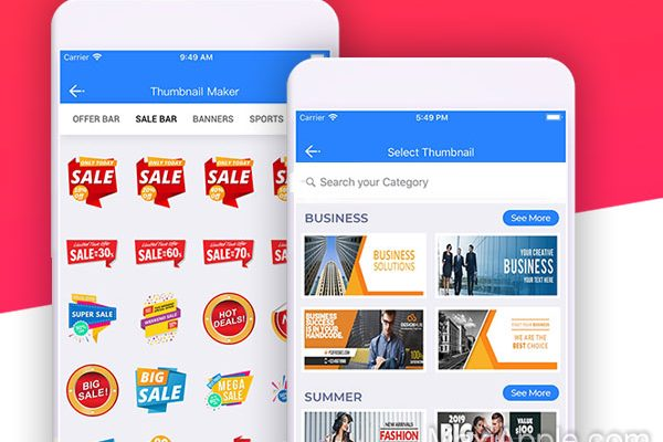 thumbnail banner maker iphone ipad 01 600x400 - Générateur iPhone de Visuels YouTube, Instagram, Facebook (gratuit)