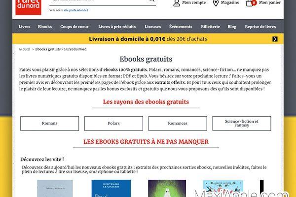 furet com du nord ebooks gratuits livres electronique 01 600x400 - 5000 eBooks de Grands Editeurs à Télécharger en ePub (gratuits)