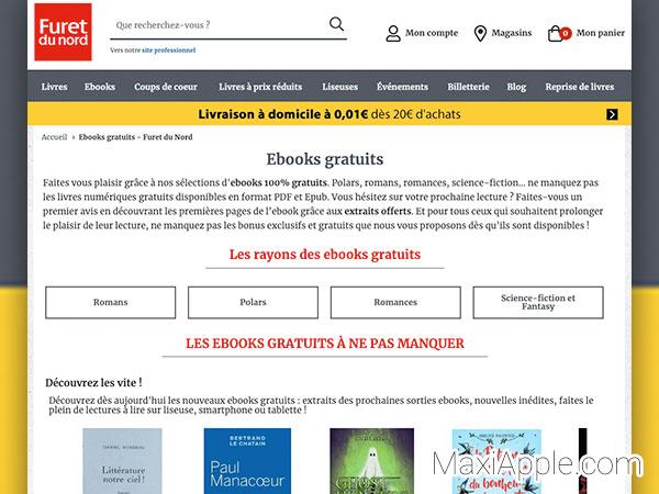 furet com du nord ebooks gratuits livres electronique 01 - 5000 eBooks de Grands Editeurs à Télécharger en ePub (gratuits)