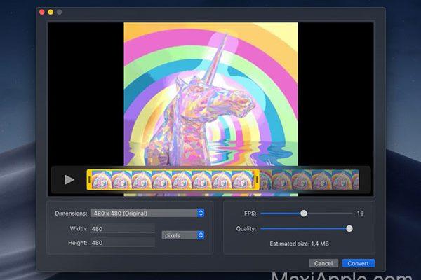 gifski macos mac 2 600x400 - Gifski Mac Convertit vos Vidéos en Image GIF Animée HD (gratuit)