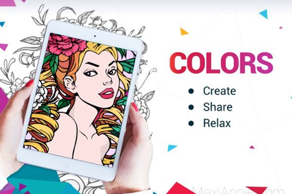meilleures applications coloriage ios iphone ipad 01 600x400 - 7 Apps iPhone iPad de Coloriage Adultes et Enfants (gratuit)