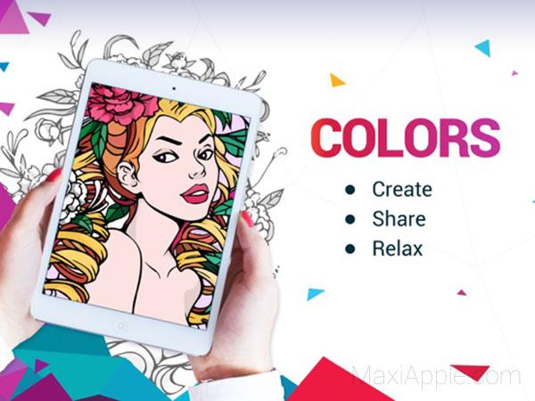7 Apps Iphone Ipad De Coloriage Adultes Et Enfants Gratuit Maxiapple Com