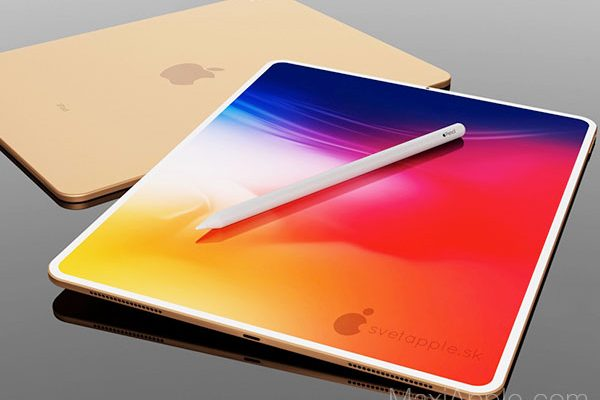 ipad air 2020 concept robert hallon 4 600x400 - iPad Air 2020 avec Touch ID sous le Verre de l'Ecran (concept)