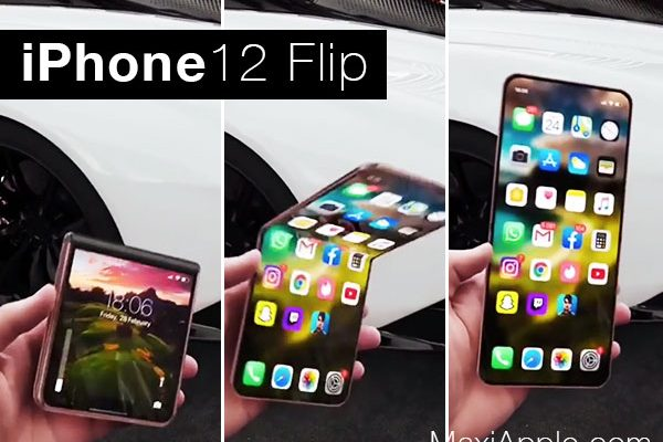 iphone 12 flip concept iskander utebayev 1 600x400 - iPhone 12 Flip Pliable dans un Bluffant Concept (video)