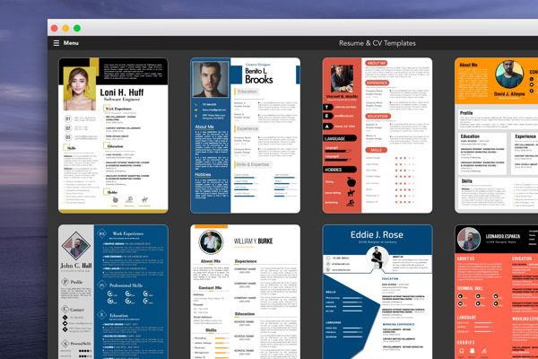 ipro resume cv template macos mac 01 600x400 - iPro Mac - 100 Modèles de CV 2020 Pages / MS Word (gratuit)