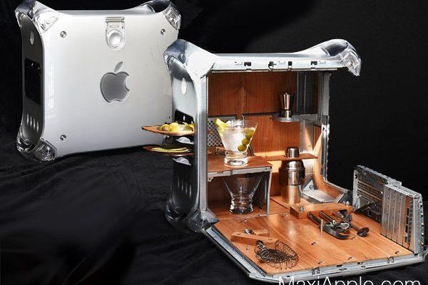 teiki design studio power mac g4 mini bar 01 600x400 - Il Transforme le PowerMac G4 en Mini Bar (images)
