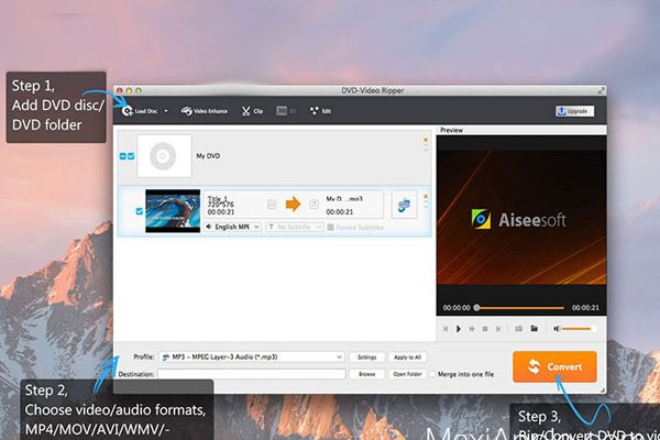 aiseesoft dvd video ripper tomp4 avi macos mac 02 600x400 - Aiseesoft DVD-Video Ripper Mac - Ripper et Convertir vos Videos (gratuit)