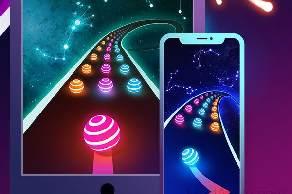 jeu dancing road color ball run iphone ipad ios 1 600x400 - Dancing Road iPhone iPad - Jeu d'Arcade Musical (gratuit)