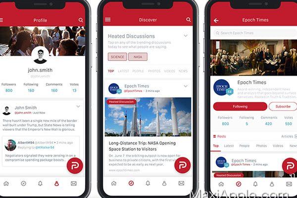 parler app iphone ipad ios android gratuit 01 600x400 - Parler iPhone iPad - Réseau Social Libre et Non Censuré (gratuit)