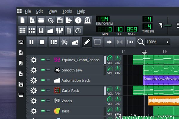 LMMS alias Linux Multi Media Studio pour Mac