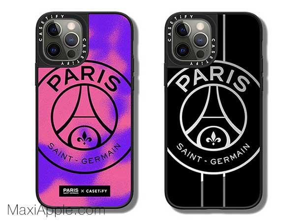 coque iphone 12 pro max psg noir